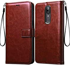 Frazil Vintage Leather Flip Cover Case for Oppo F11/A9 2019 | Inner TPU | Foldable Stand | Wallet Card Slots - Chestnut Brown