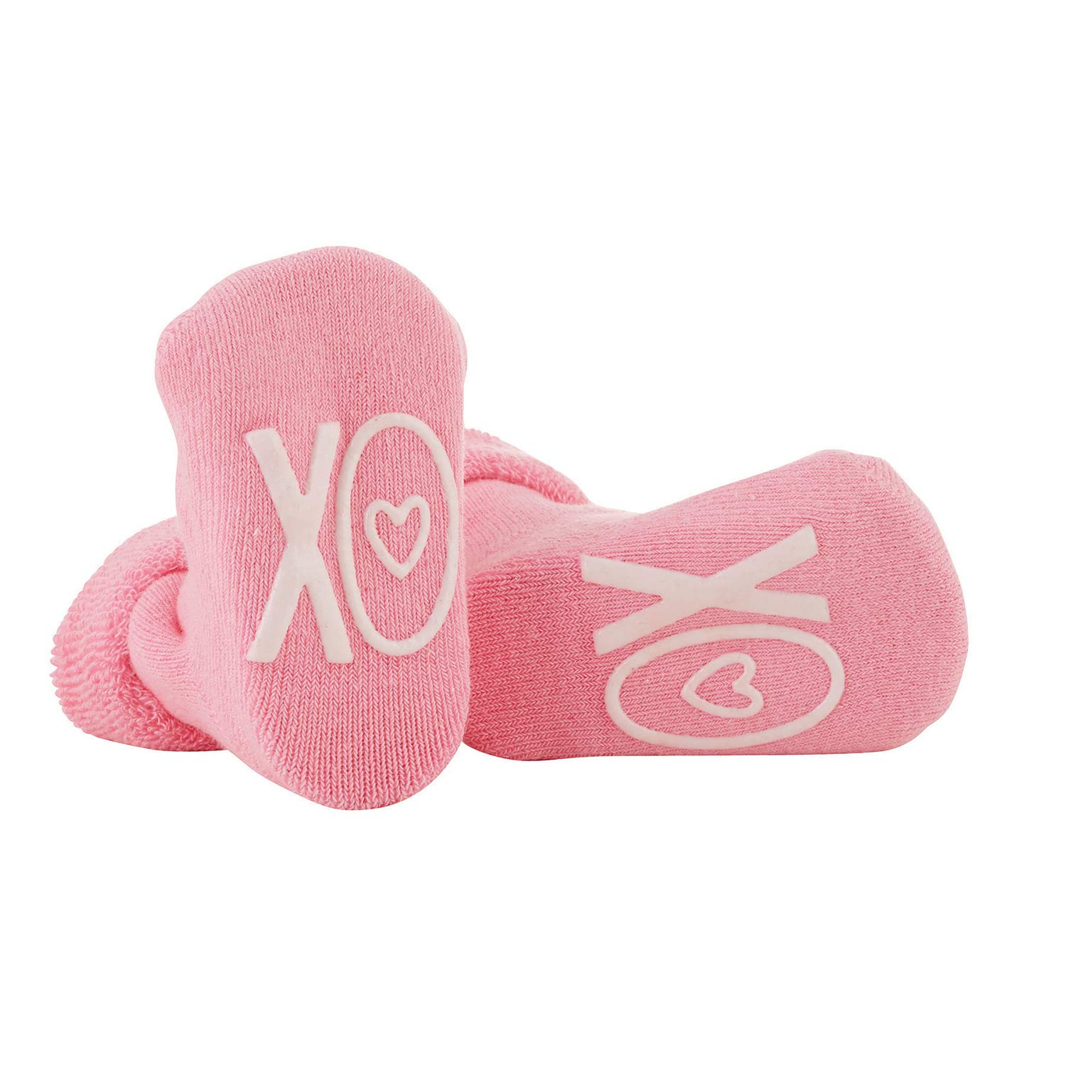 Stephan Baby Non-Skid Silly Socks with Cute Sayings, Valentine's Day, XOXO, Fits 3-12 Months