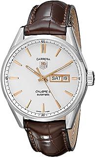 TAG Heuer - Hombre-Reloj analógico de Cuarzo de Cuero WAR201D, FC6291