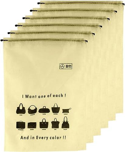 B11 handbag dust cover women purse storage pouch MEDIUM Size Set of 6 Pcs 16x20 Inch
