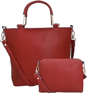 Lapis O Lupo Women Fashion Synthetic Leather Handbags Shoulder Bag and Sing bag 2pcs Set