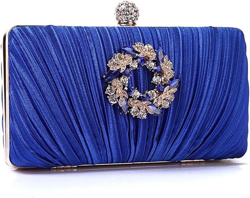 YaGFeng Sac De Soirée Nuptiale Sparkly Cristal d'embrayage De Soirée De Mariage Party Sac À Main Robe De Bal Embrayages Sac À Main pour Le Bal de Mariage (Color : Gold) Blue