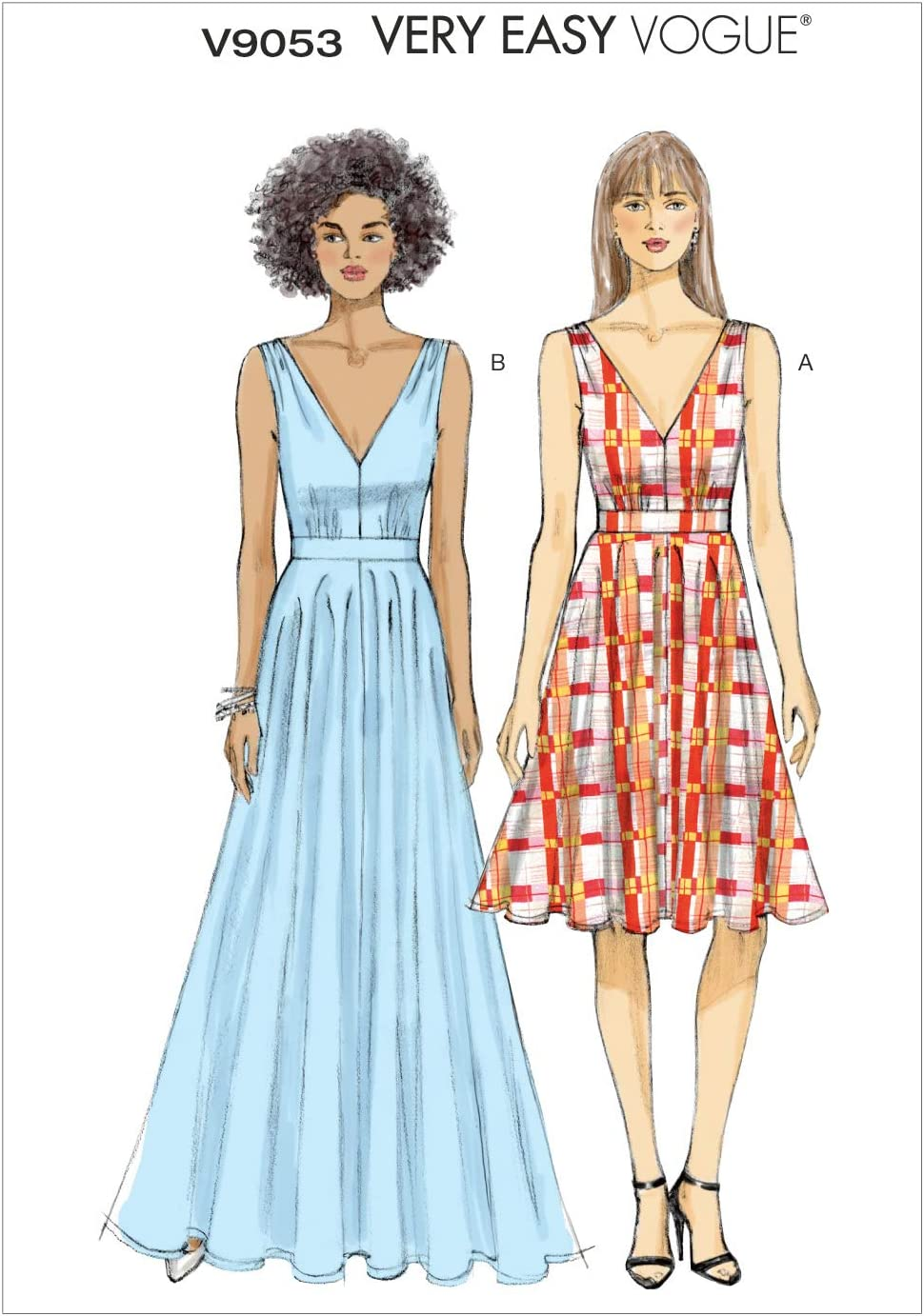 VOGUE Limited Special Price PATTERNS Popular brand in the world V9053 Misses' Dress A5 Template 6-8-10-1 Sewing