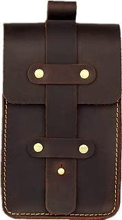 Mens Genuine Leather Fanny Pack Waist Bag Belt Pouch Bum Bags for Men Vintage