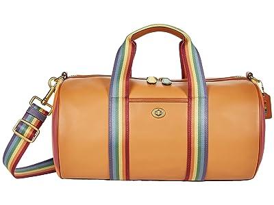 COACH Gym Bag in Glovetan Leather w/ Rainbow Quilting
