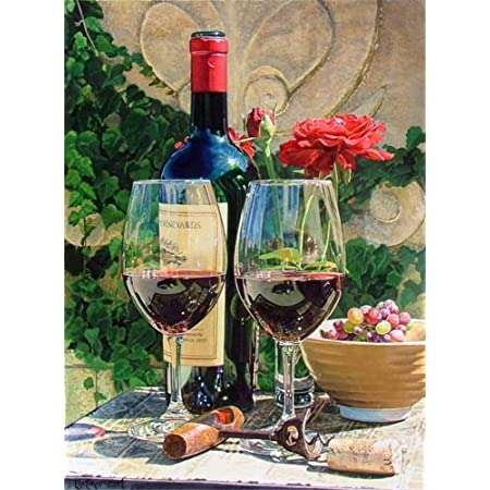 LVGUMM Paint by Numbers Kits for Adults Beginner and Kids Students Mr 20 inch Niu drinking red wine With 4 Brushes And Acrylic Pigment Home Art Decoration 16