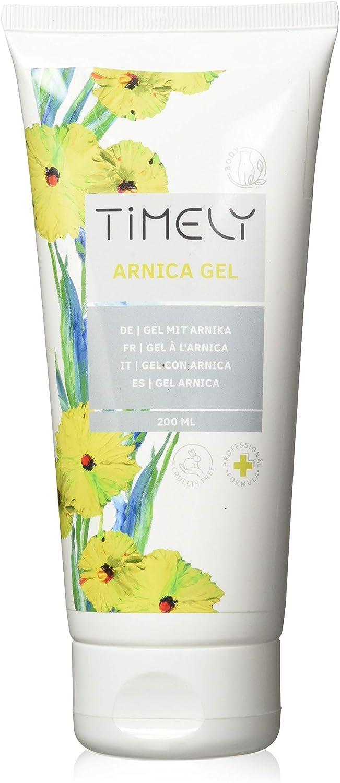 Timely - Gel de árnica hidratante para reducir el enrojecimiento y la hinchazón, 200 ml