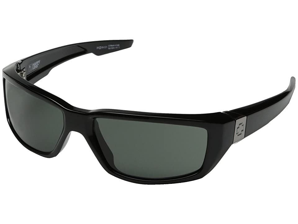 Spy Optic Dirty Mo (Black w/ Signature/Happy Gray Green) Sport Sunglasses
