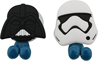FINEX FinexSet of 2 Star Wars Darth Vader & Stormtrooper Toothbrush Holders with Suction Cup for Wall in Bathroom at Home