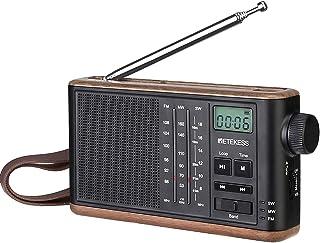 Retekess TR613 Portable Radio, AM/FM/SW Transistor Retro Radio, 1200mAh Rechargeable Battery, Support TF Card, LCD Screen,...