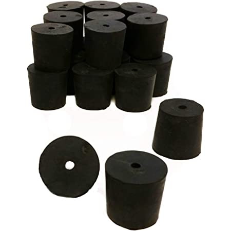 Drilled 1-Hole GSC International RS-1-1 Rubber Stoppers 1-Pound Pack Size 1