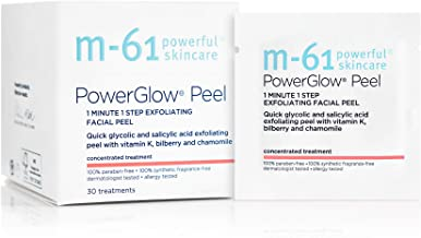 M-61 PowerGlow Peel- 30 Treatments- 1-minute, 1-step exfoliating glow peel with glycolic,..