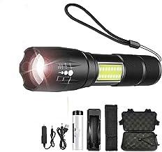 Super heldere led-zaklamp met zijlicht, COB 4 verlichting, waterdicht, led-zaklamp, voor camping, avontuur, nachtritten, d...