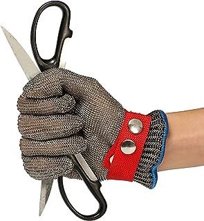 Guanti Antitaglio,LIUMY Acciaio Inox Rete Metallica Butcher Guanto/Cut Sicurezza Proof Stab Resistente Guanto/Salute e Sicurezza, Facile da Pulire,La Scelta Ideale per l'industria Alimentare