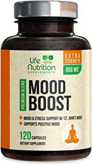 Mood Boost Support for Stress 1100mg - Positive Mood and Focus Support Supplement, Made in USA, Natural Serotonin and Dopa...
