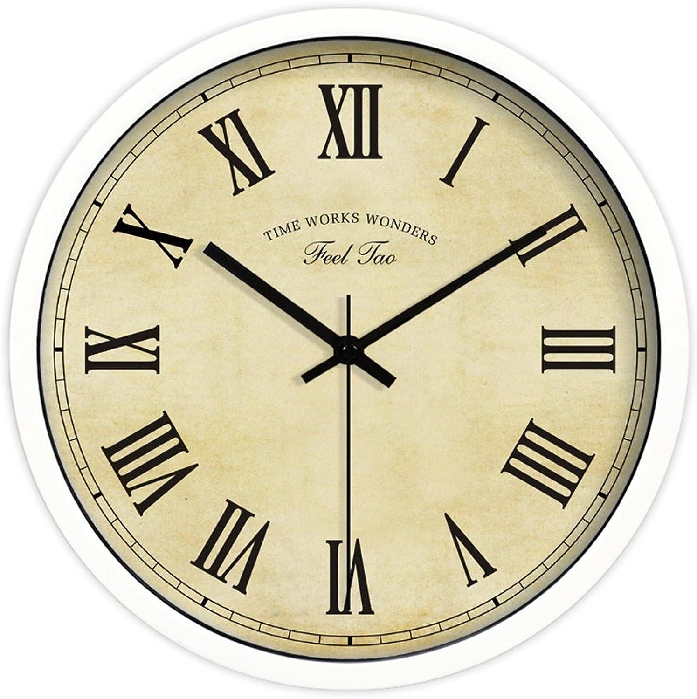 connotación de lujo discreta Reloj de parojo parojo parojo de estilo europeo silencioso de cuarzo en la sala de estar (25,4 cm, 30,5 cm, 35,5 cm), B, 12   lo último