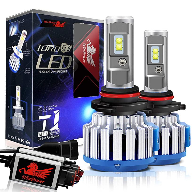 Win Power 9012 LED Headlight Bulbs Conversion Kit HIR2 CREE 70W 7200LM 6000K Cool White+ Canbus-2 Yr Warranty