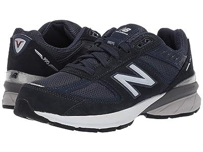 New Balance Kids 990v5 Launch (Big Kid) (Navy) Kids Shoes