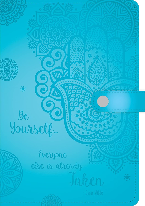 Und inspirierende geprägt-Tagebuch mit Magnetverschluss, Magnetverschluss, Magnetverschluss, 256 linierte Seiten, Farben sortiert, Farbe kann variieren (86048) B01G2EP56G   Online  f1114b