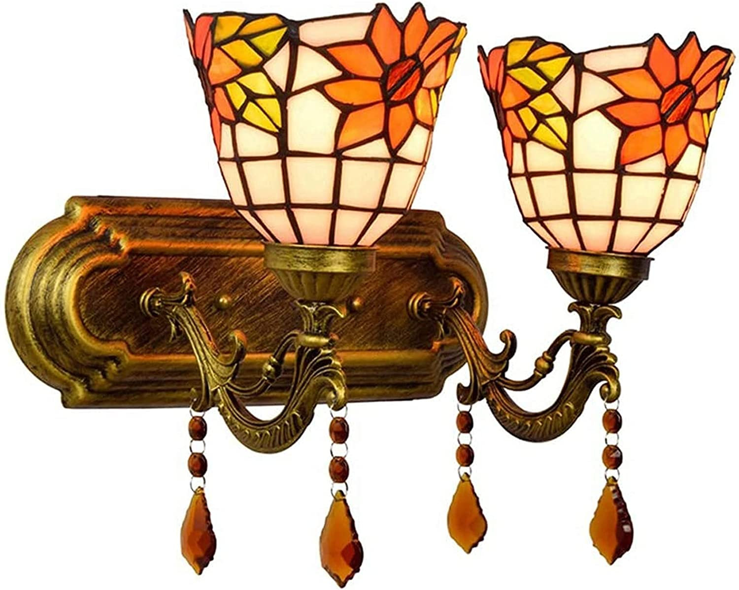 Wall Lamp Fixture Courier shipping free Light Colored Glass Sale item Design of