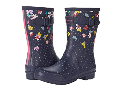Joules Molly Welly (Navy Blossom) Women