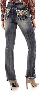 Women's Juniors Luscious Curvy Bling Bootcut Jeans