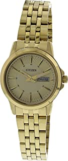 Citizen Women's Quartz Watch with Black Dial Analogue Display Quartz Stainless Steel EQ0603 59PE