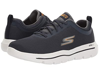 SKECHERS Performance Go Walk Evolution Ultra Inter (Navy/Orange) Men