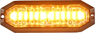 Unicorn Lighting UT01 Surface Mount Warning Emergency Strobe Grille Light Head [SAE class 1] [IP68] for Police and Tow Truck Construction Vehicle Amber