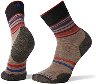 Smartwool PhD Outdoor Mid Crew Sock - Lightly Cushioned Pattern Merino Wool Performance Sock for Men and Women