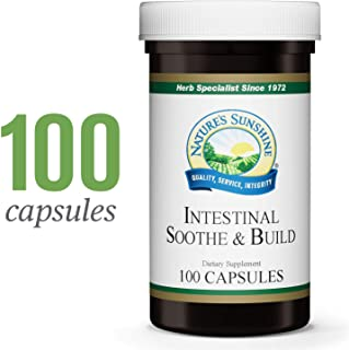 Nature's Sunshine Intestinal Soothe & Build, 100 Capsules | Bloating and Gas Relief Supplement with Slippery Elm Bark, Chamomile, and Marshmellow Root Extract for Natural Relief