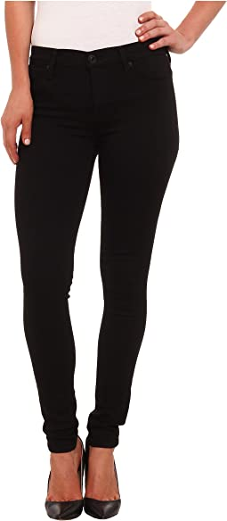 Nico Mid Rise Super Skinny Jeans in Black