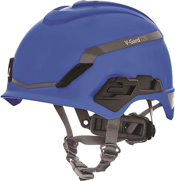 Elmetto industriale per arrampicata - novent - blu - 52-64 cm msa v-gard h1 10194793