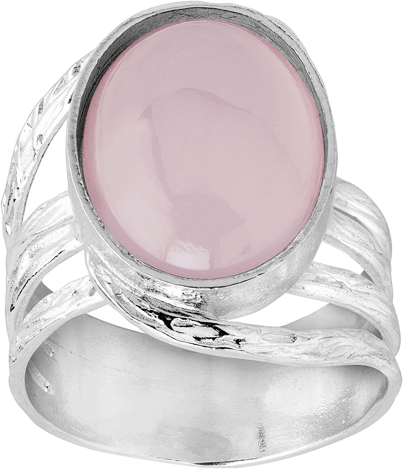 Silpada 'More is Mauve' Natural Ring Lowest price price challenge in Sterling Chalcedony Pink
