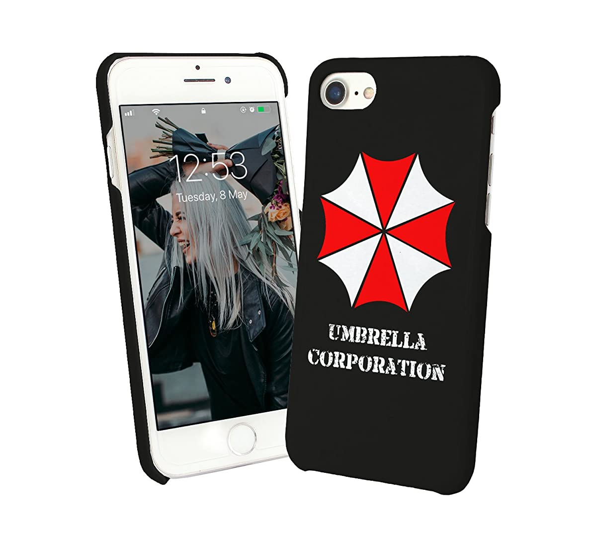 Umbrella Corporation Funny Quote Rain Days Sun Happiness Protective Case Cover Hard Plastic iPhone XR (2018) Funny Gift Christmas for Him for Her