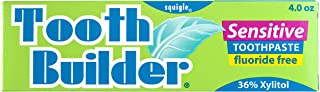 Squigle Tooth Builder Toothpaste (Stops Tooth Sensitivity. Prevents Canker Sores, Mouth Ulcers, Bad Breath, Gum Disease, Chapped Lips, Perioral Dermatitis. Soothes and Protects Dry Mouths. No SLS.) - 1 Pack