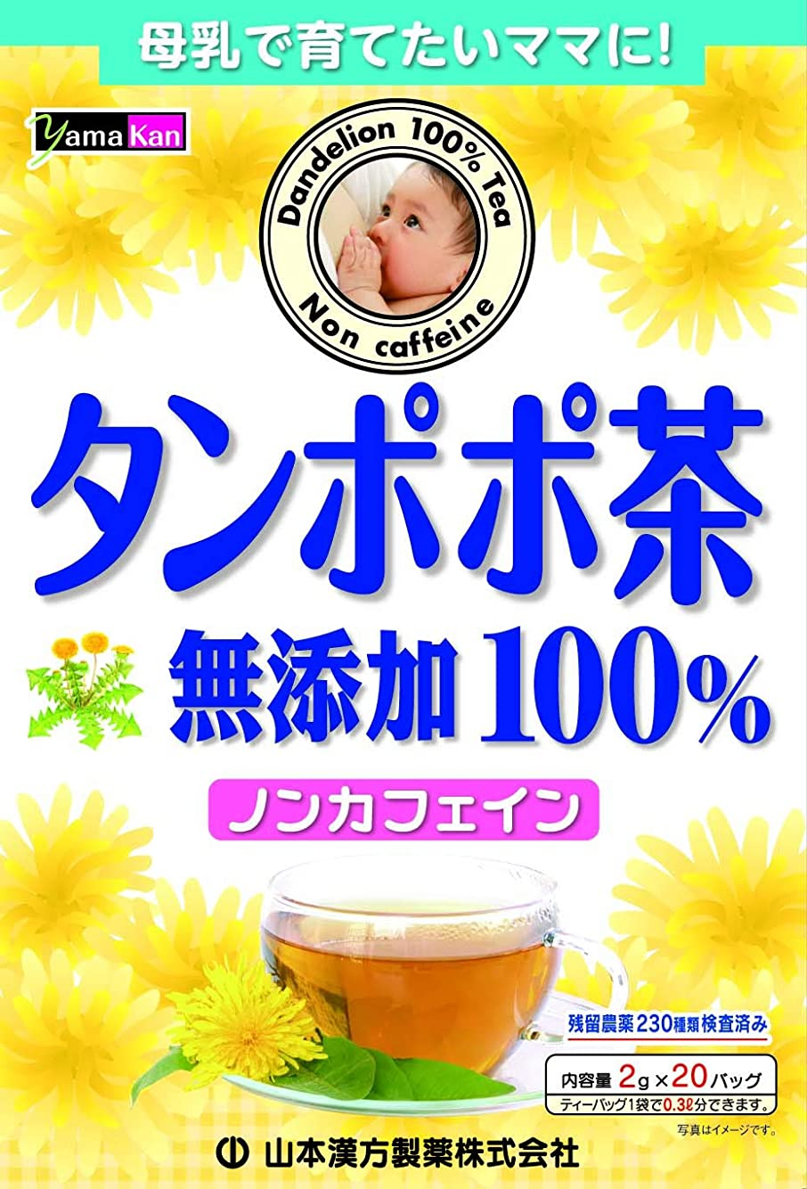 ふつう極めて麺山本漢方製薬 タンポポ茶100% 2gX20H
