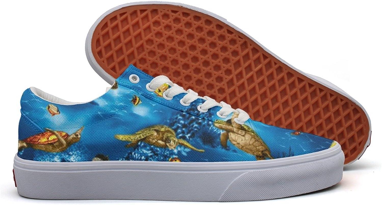 Island Sea Turtles Ocean Women's Casual Sneakers Canvas Slip Cute Comfortable
