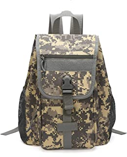 Camo-Backpack Durable Digital Camouflage Backpack for School Travel Camping Outdoor Hiking