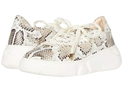 AGL Chunky Sport Sneaker (White/Natural Snakeskin) Women