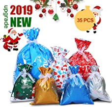 Christmas Gift Bags, 35 Pack Wrapping Xmas Goody Bags Assorted Styles Holiday Treats Package Bags (35 PCS)
