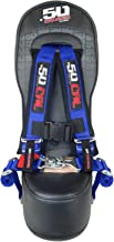 50 Caliber Racing Polaris RZR 570, 800 & XP900 Front/Rear Bump Seat with Blue 2