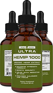 100% Pure Hemp Oil for Pain Relief (1000mg Hemp). Best Selling Hemp Extract Helps with Anxiety Relief, Stress Relief, Arthritis Pain Relief – A Hemp Seed Oil, Natural Hemp Oil + Anxiety Oil.