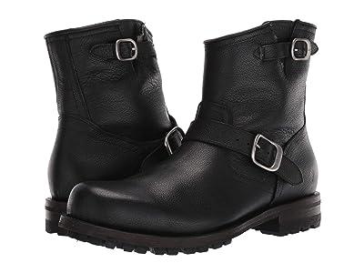 Frye Boyd Engineer Boots (Black WP Tumbled Full Grain) Men