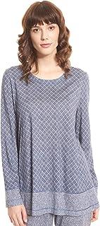 Rösch Pure 1203561-16544 Women's Tweed Check Pyjama Top