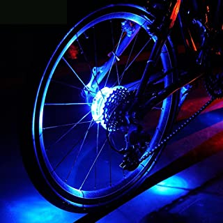 featured product Lufei Bicycle Wheel Light Bike Front/Tail Hub Light Led Spoke Warning Lamp Cycling Decoration Night Riding Bike Accessories.