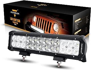 "Auxbeam LED Light Bar 12"" 72W LED Work Light 24pcs 3W Spot Flood Combo Beam Waterproof for Jeep Off-Road Light Truck Car Boat Light Military Mining Heavy Equipment"