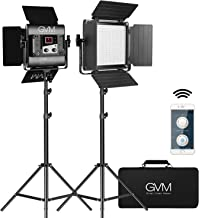GVM 560 LED Video Light, Dimmable Bi-Color, Photography Lighting with APP Control, Video Lighting Kit for YouTube Outdoor Studio, 2 Packs Led Panel Light, 2300K-6800K, CRI 97+