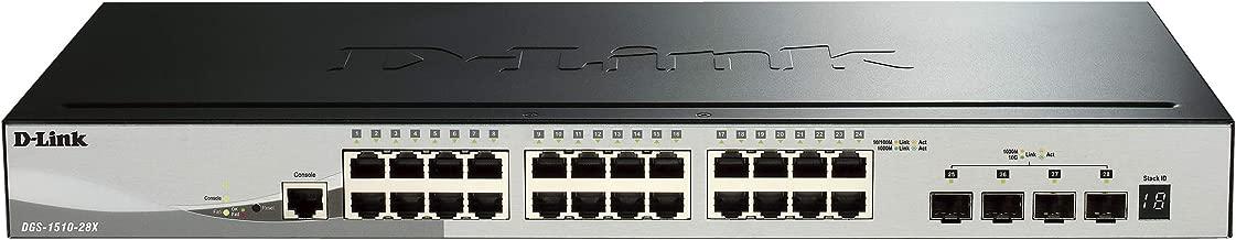 D-Link 28-Port Gigabit Smartpro Stackable Switch & 4 10GbE SFP+ Ports (DGS-1510-28X)