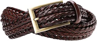 Fashion Men's Braided Belt Leather Strap for Jeans